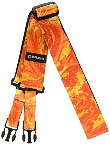 - DiMarzio Steve Vai ClipLock Strap Orange Universe 2 in.