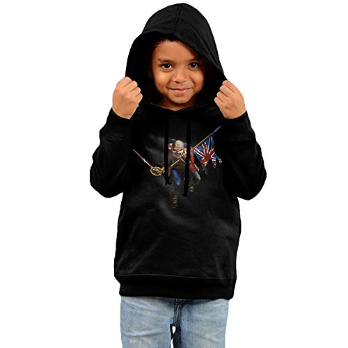 Jumbo Logo Hoody Sweatshirt - Iron Maiden Trooper Jumbo Logo Back Toddler Sweatshirts Hoodie Boys