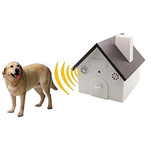 Birds No Box - weget ultrasonic dog barking control outdoor pet anti bark deterrent stop barking device Bird House Box Design Waterproof No Harm To Dogs or other Pets,Plant,Human Easy Hanging