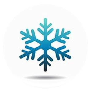 alfombrilla de ratón Copo de nieve - ronda - 20cm