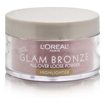 L Oreal Glam Bronze All-Over Loose Powder Highlighter-ROSE DUSK 0.50 OZ. EACH