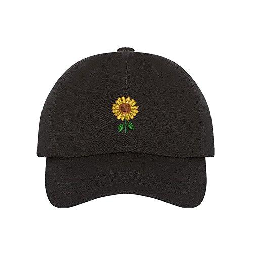 Prfcto Lifestyle Sunflower Dad Hat - Black Baseball Cap- Unisex b1e8a1bfac5