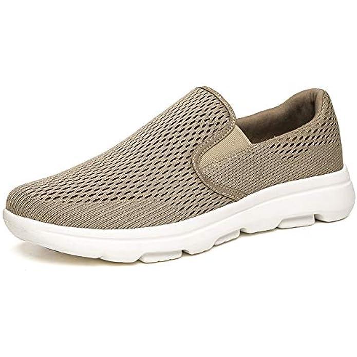 Zuwoigo Men's Slip On Walking Loafers - Breathable Lightweight Mesh Casual Sneakers
