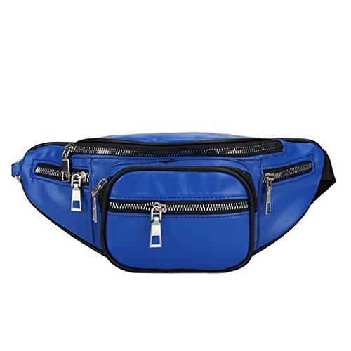 - Kangma Unisex Portable Waist Packs Chain Chest Bag Outdoor Sport Crossbody PU Leather Satchel Sling Bags