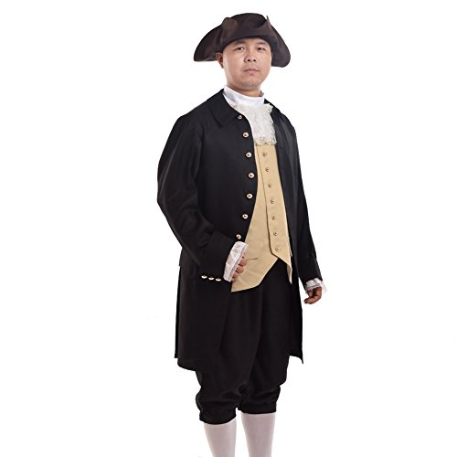 [Blessume Rococo Colonial Costume Black] (Adult Colonial Tricorn Hat)