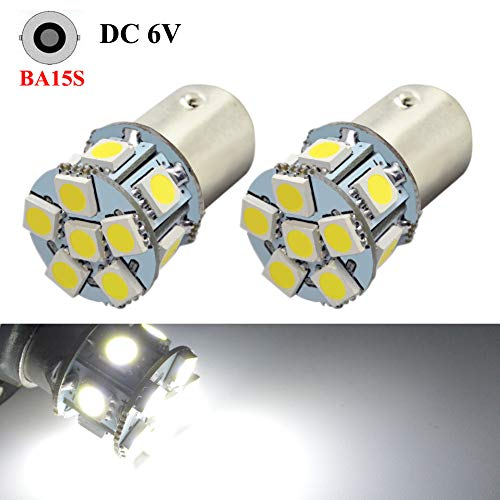Bulb 1156 Light Ba15s (1156 Light Bulb Ruiandsion 2pcs 6V 1156 BA15S LED Bulb RV Light White 5050 12SMD for Back Up Reverse Turn Signal Tail Lights)