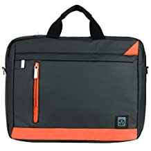 VanGoddy Adler Briefcase Messenger Bag for Asus 14 to 15.6-inch Laptops (Orange)