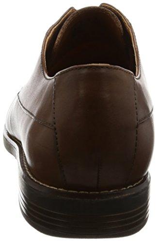 Clarks Derby Uomo Scarpe Marrone Leather Plain Stringate Becken Tan rUxIPqr