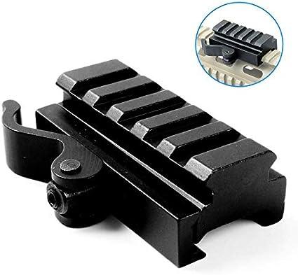 Picatinny Riser Mount Adapter 20mm Schiene mit Schnellverschluss Abnehmbare QD