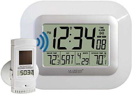 La Crosse Technology WS-811561-W - Reloj de pared (AA, 1.5 V, Plata ...