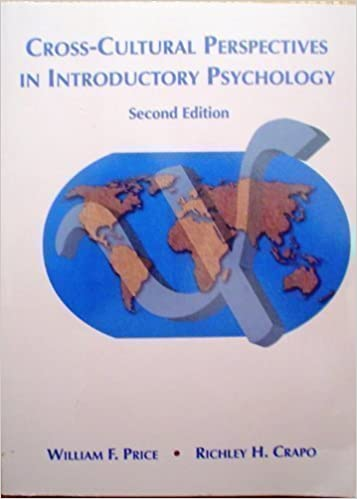 Cross-Cultural Perspectives in Introductory Psychology, Price, William F.; Crapo, Richley H.