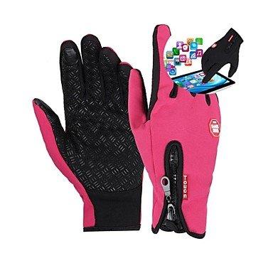 BuW Windstopper Fleece Full Finger Bike Bicycle GEL Touch Mittens Winter Waterproof Thermal Cycling Gloves For Women long black gloves motorcycle gear