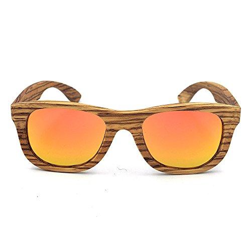 Orange UV400 Lunettes de lentille Yeux des Couleur de Wood Rimmed Fashion Protection Protection Zebra Couleur Soleil pour Peggy Gu Retro Adulte Gris Shades Handcraft Unisexe WA6xzw8Sqw