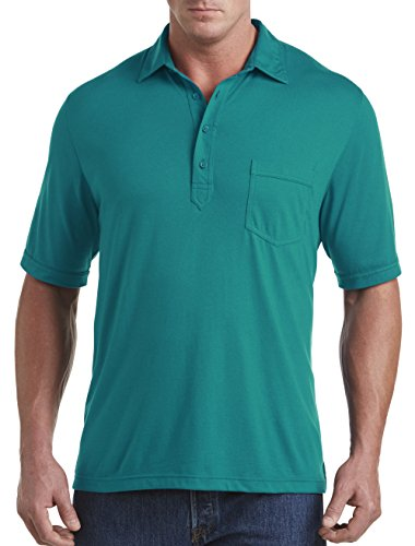 Harbor Bay by DXL Big and Tall Golf Polo, Deep Lake Green 7XL by Harbor Bay