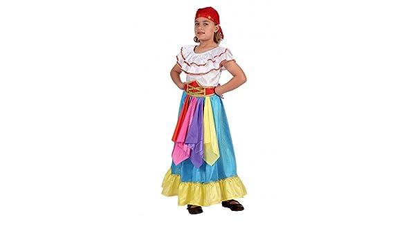 Disfraz zingara Gitana pitonisa de 5 años a 6 años: Amazon.es ...