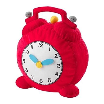 Ikea hemmahos plástico Juguete, Reloj Rojo 28 cm