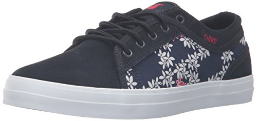 Leaf Women's WOS Aversa DVS Navy Tea Red Skateboarding Shoe 8T6fx