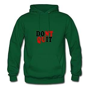 Green Elegent Dont_quit_tshirts Women Funny Hoody X-large