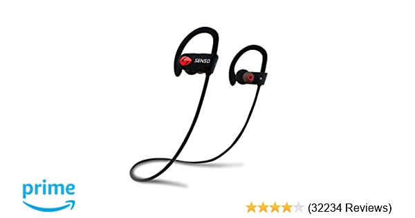 2c212f215e8 SENSO Bluetooth Headphones, Best Wireless Sports Earphones w/Mic IPX7  Waterproof HD Stereo Sweatproof Earbuds for Gym Running Workout 8 Hour  Battery Noise ...