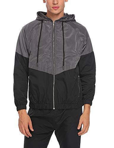Mens Waterproof Windproof Quick Dry Outdoor Jacket Sportswear Windrunner Black