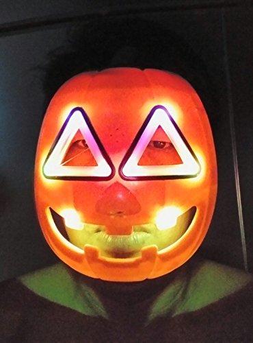 Mask Halloween Pumpkin, Light-Sound Scary (8.5
