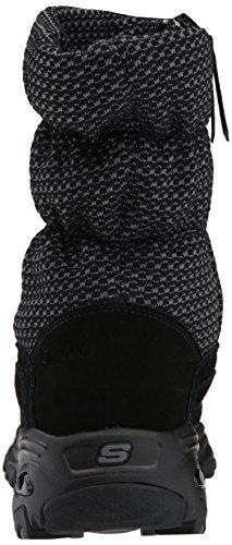 Skechers D'Lites, Bottes Femme Noir (Black)