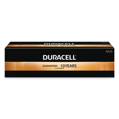 CopperTop Alkaline Batteries with Duralock Power Preserve Technology, AA, 36/Pk, Sold as 1 Package, 36 Each per Package by Duracell