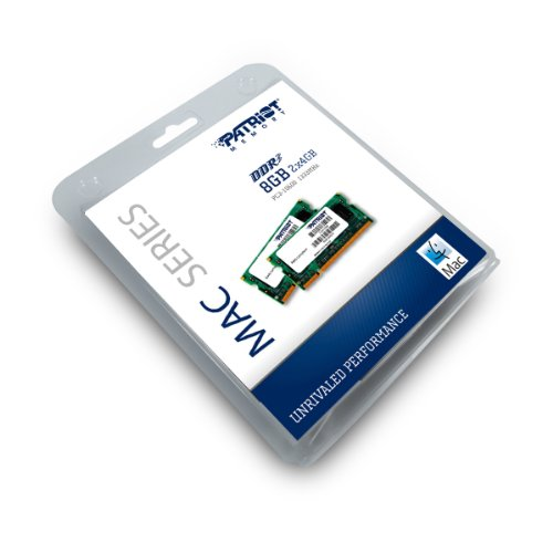 Patriot Mac Series 8GB Apple SODIMM Kit (2X4GB) DDR3 1333 PC3 10600 204-Pin SO-DIMM PSA38G1333SK by Patriot (Image #2)