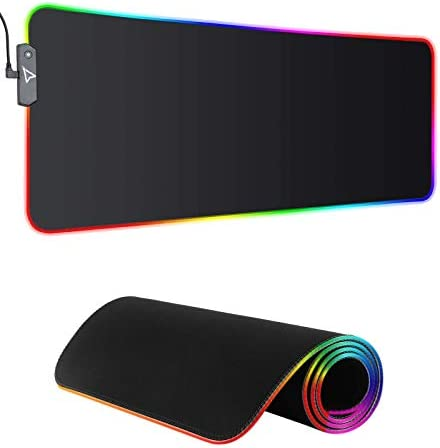 Dpower RGB Gaming Mouse Pad - Large Extended 13 Lighting Mode LED Soft Mouse Pad,Non-Slip Rubber Base, Waterproof, Computer Keyboard Mousepad Mat XXL for Pro Gamer,31.5X11.8Inch