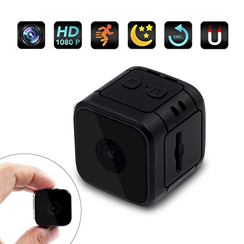Mini Spy Camera Hidden Camera HD 1080P Nanny Cam Indoor Small Covert Security Cam with Motion Detection Night Vision for Home and Office