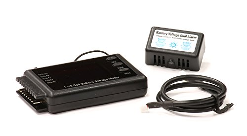 Integy RC Model Hop-ups C23818 BVM-8S 1-8S Battery Voltage Meter w/Alarm & 128x64 (3 Cell Battery Life)