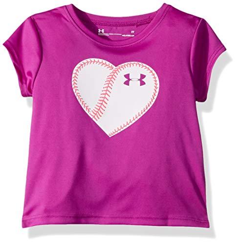 Soccer Short Graphic Tee Sleeve (Under Armour Girls' Little Graphic Short Sleeve T-Shirt, Strobe-S19 5)