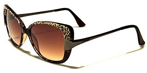 leopardo Lentes Gato estampado GISELLE Elegante Ojos Marrón sol de Gafas GRATIS De Mujer Marrón INCLUIDO Vintage Bolsa beachhutsunglasses AATwqZ