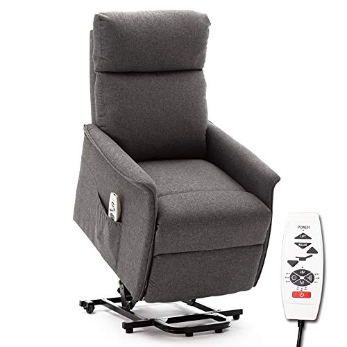 ERGOREAL Lift Chair, Power Lift Recliner with Heat and Massage Functions, Remote-Controlled Power Lift Chair for The Elderly. (Grey)