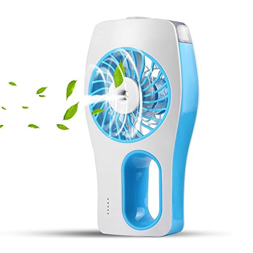 Allkeys Handheld Fan,Portable Mini Misting Personal Cooling Fan with Soft Wind and Ultra-Quiet for Travel,Home and Office, 2018 Upgrade (Blue)