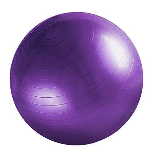 Fitness Ball Comfortable Durable Thickened Explosion-proof Yoga Gym Training Ball Purple by XFelectronics