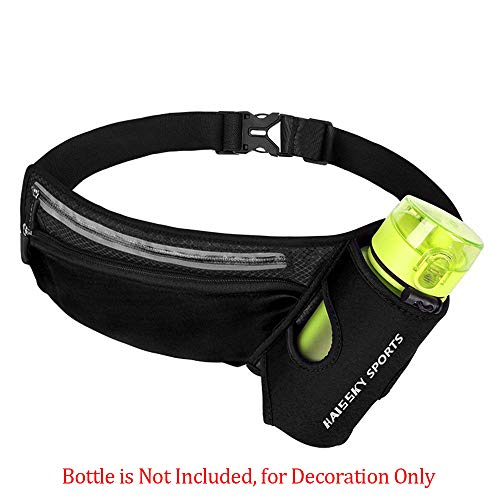 JIFAR 2019 Newest Hydration Running Belt with Cooling Towel, Multifunctional Waist Pack for Running Hiking Cycling Climbing Women&Men Sweat-Proof, Black(Bottle Not Included)