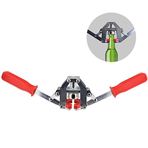 Manual Bottle Capper Tool for Homebrew, Twin Lever Hand Bottle Capper for Home Brewing, Crown Capper Metal Beer Bottle Sealer Kit for Home Brewing