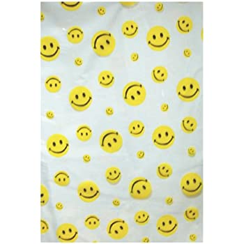 Chic Yumian Funny Smiley Face Emoji Shower Curtain Bathroom Drapes Panel Waterproof Fabric