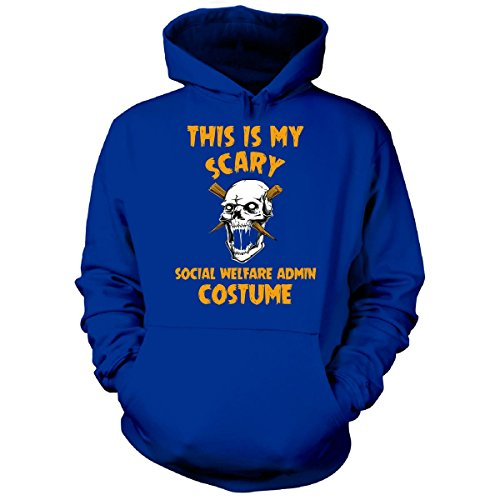 Welfare Mom Costume (This Is My Scary Social Welfare Admin Costume Halloween - Hoodie Royal XL)