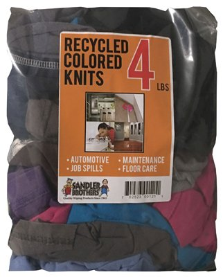 Sandler Brothers 342004 4 lb Rec Color Knit Cloth