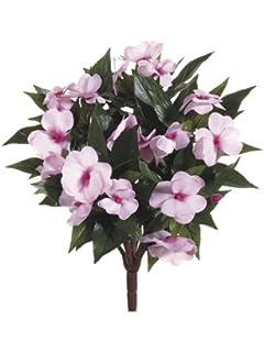 Amazon 135 silk new guinea impatiens flower bush tomato red 135 new guinea impatiens bush light pink pack mightylinksfo
