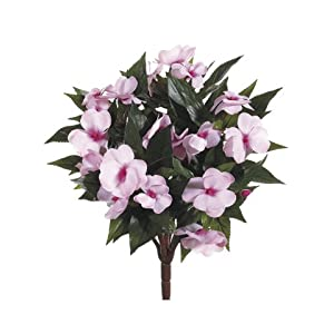 "13.5"" New Guinea Impatiens Bush Light Pink 	 (Pack of 6) 9"