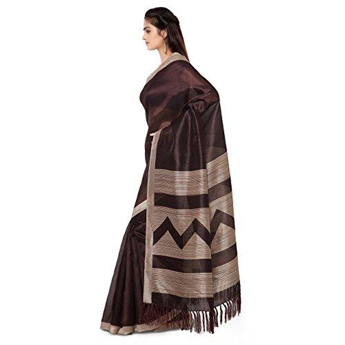 Rajnandini-Womens-Tussar-Silk-Stripes-Printed-SareeJOPLNB3013BBrownFree-Size