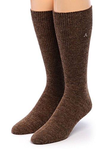 - Warrior Alpaca Socks - Men's Premium Baby Alpaca Wool Dress Socks (Heather L)