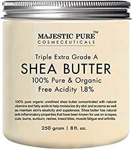 Majestic Pure Grade A Unrefined Organic Shea Butter, 12 oz by Majestic Pure (Image #1)