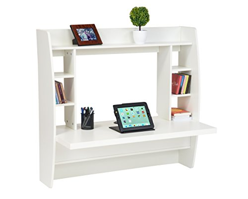 """Review 42"""" Wall Mount Floating Desk with Storage Shelves by Trademark By Trademark Innovations by Trademark Innovations"""