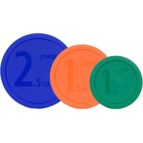 Pyrex 325-PC 2.5qt 323-PC 1.5qt 322-PC 1qt Mixing Bowl Lids - 3 Pack (Set Mixing Bowl Pyrex)