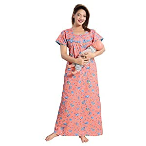 Maternity Nightwear Cotton Feeding Nighty With Zip Online India