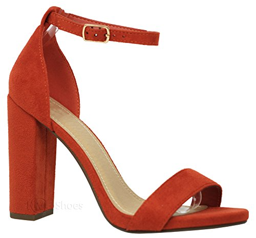 MVE Shoes Women's Stiletto Pumps High Heels Open Toe Ankle Strap Platform,Shiner Orange ISU - Pumps Platform Orange